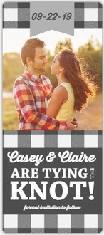 Gray Flannel Save The Date Magnet