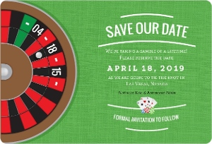 Las Vegas Roulette Save The Date Magnet