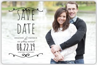 Classic Black Frame Save The Date Magnet
