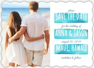 Beachy Watercolor Save The Date Magnet