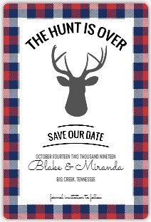 The Hunt Is Over Save The Date Magnet