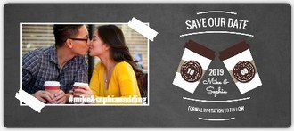 Mocha Love Save The Date Magnet
