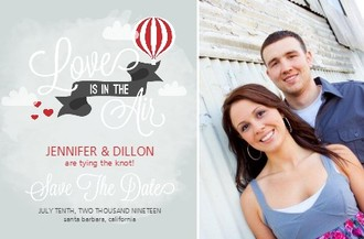 Sky High Love Save The Date Card