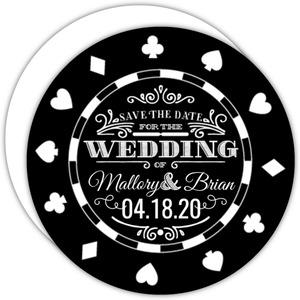 Black Chip Vegas Save The Date Card