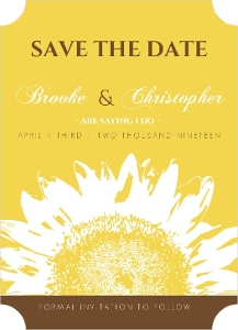Yellow and Brown Sunflower Save the Date