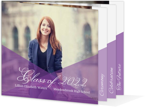 Geometric Purple Ombre Graduation Invitation