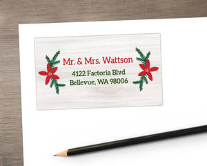 Rustic Reindeer Christmas Address Label