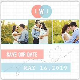 Graphs of Love Save The Date Magnet