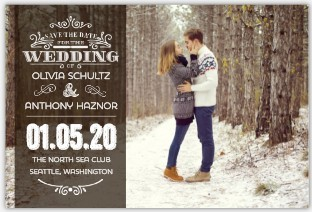 Whimsical Decorative Save The Date Magnet