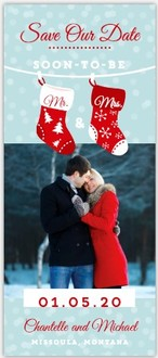Cute Stocking Pair Save The Date Magnet