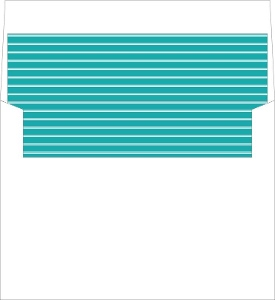 Turquoise Modern Typography Envelope Liner