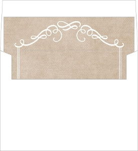 Kraft Paper Swirls Envelope Liner