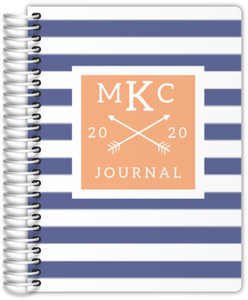 Modern Stripes Monogram Travel Journal