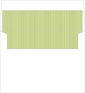 Green and White Stripes Envelope Liner