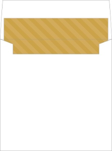 Gold Stripes Envelope Liner