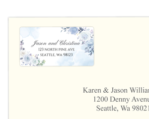 Periwinkle Floral Address Label