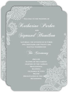 White Lace Wedding Program