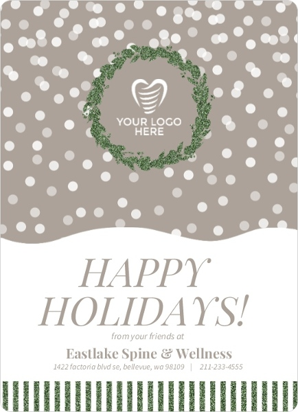 Simple spine health service business holiday greeting simple spine health service business holiday greeting m4hsunfo