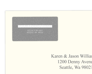 Gray Bright Sparkles Address Label
