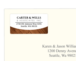 Carter & Wells Wood Grain Address Label