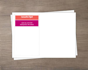 Modern Color Block Custom Envelope