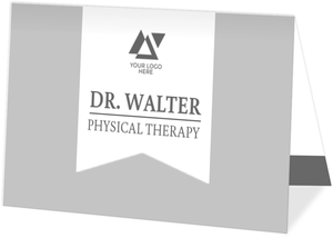 Gray and White Banner Appointment Business Card