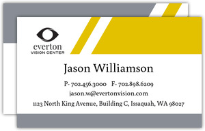Gray and Yellow Diagonal Lines Business Card