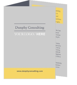 Gray And Yellow Tri Fold Brochure