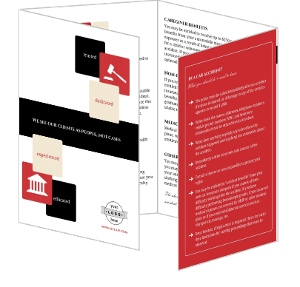 Black Red Icons Lawyer Brochure