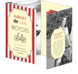 Red White Retro Quad Fold Brochure