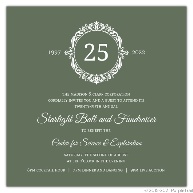 Green elegant monogram business anniversary invitation business green elegant monogram business anniversary invitation stopboris