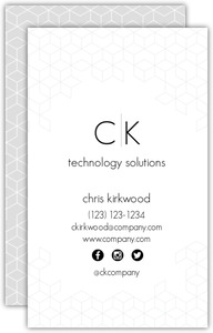 Modern Isometric Pattern Business Card