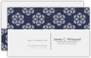 Masculine Geometric Pattern Business Card