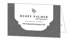 Elegant Frame And Wood Grain Business Card