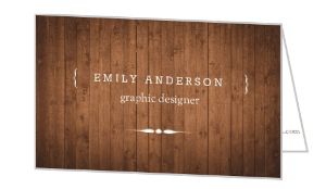 Brown Wood Texture Business Folded Card