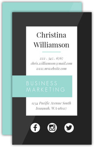 Modern Shapes Custom Business Card