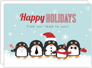 Blue Penguin Business Holiday Card