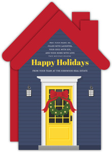 Front Door Real Estate Holiday Greeting Card