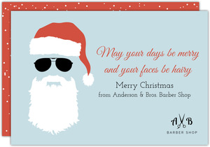 Santa Barber Business Christmas Card