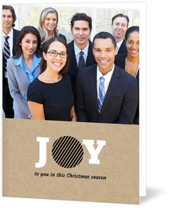 Geometric Joy Business Christmas Card