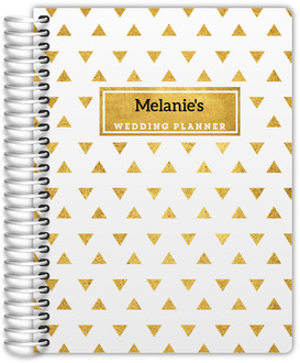 Golden Modern Triangle Pattern Wedding Planner