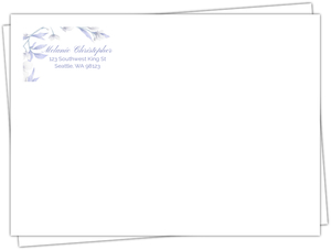 White Lilies Purple Leaves Custom Envelope