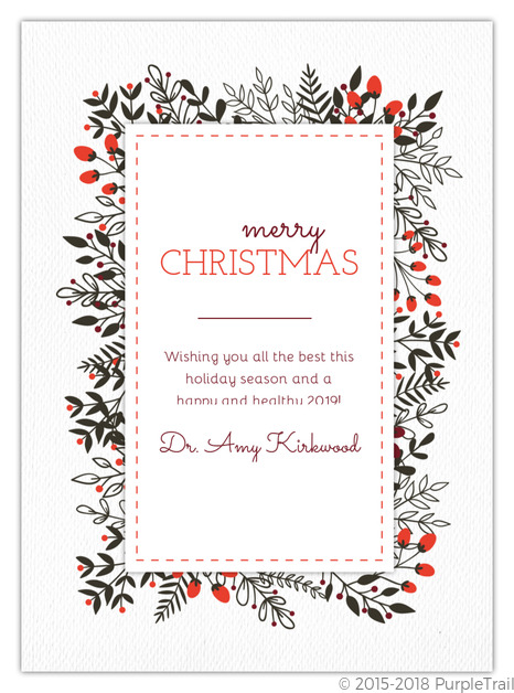 Business Christmas Cards.Berries And Winter Foliage Business Christmas Card