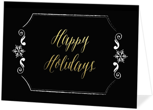 Simple Gold Foil Business Holiday Greeting Card