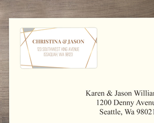 Modern Geometric Frame Address Label