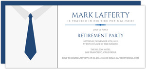 Business Tie Business Retirement Invitation