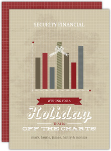 Vintage Off The Charts Graph Business Holiday Card