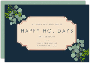 Botanical Leaves Business Holiday Card
