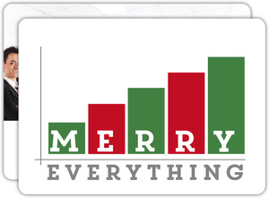 Merry Everything Graph Business Holiday Card