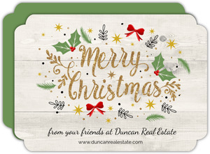 Glitter Merry Christmas Assortment Business Christmas Card